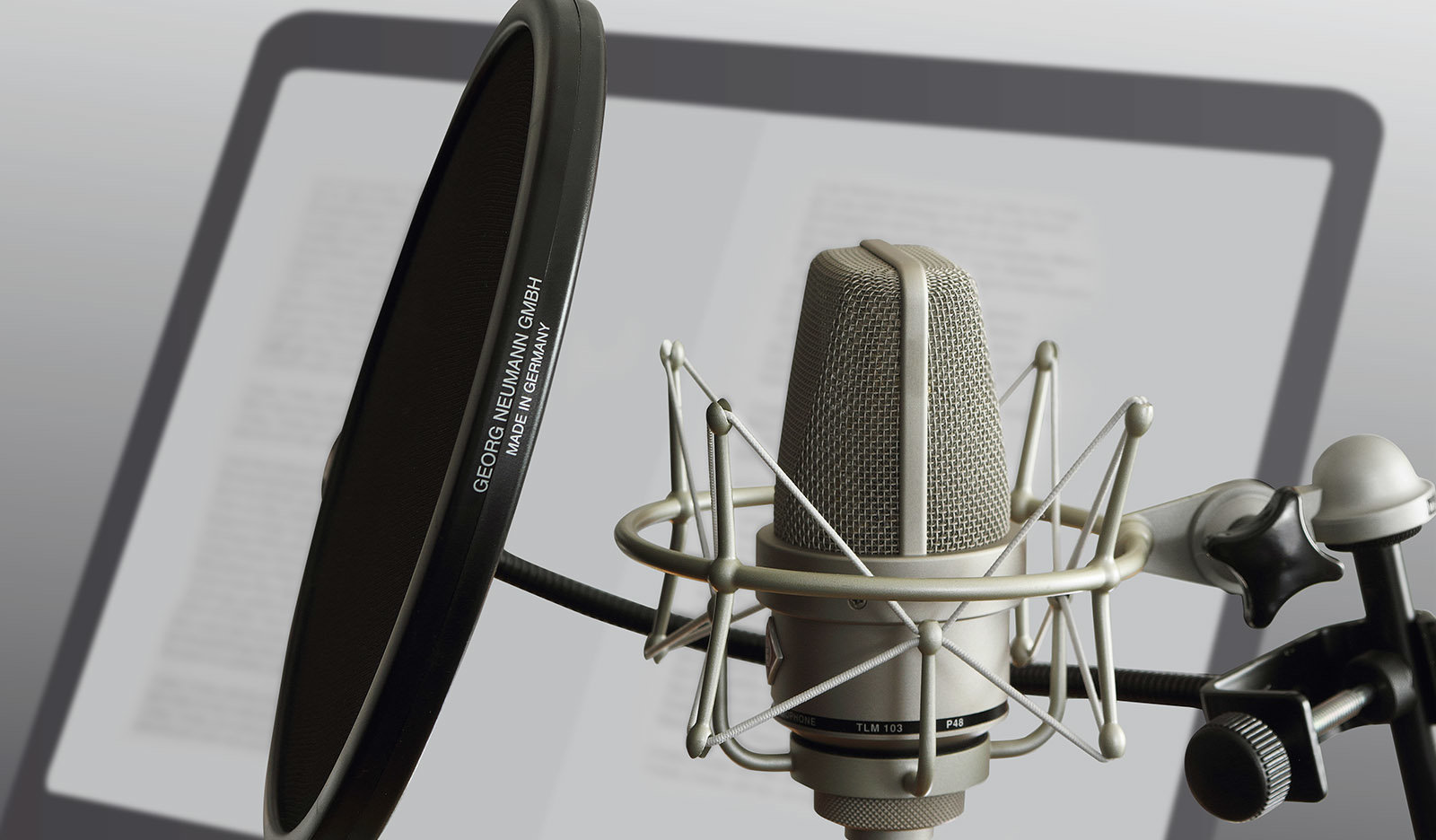 For optimal protection, the pop screen shouldn't be too close to the mic