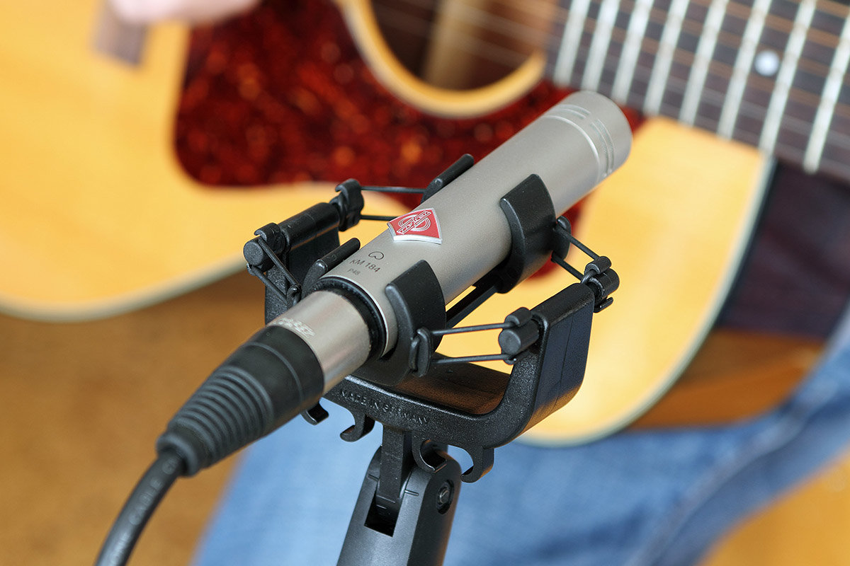 Shockmounts are available for small diaphragm microphones, too.