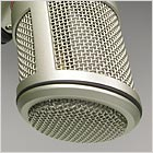 BCM 104 broadcast microphone detail: Head grille