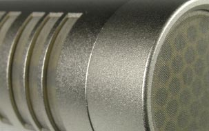KMR 82 i shotgun microphone: Detail view of the microphone capsule