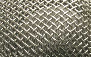 KMS 105 vocal microphone: Detail of the head grille