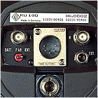 KU 100 dummy head: Bottom view