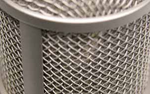 Tube microphone M 147 Tube: Detail view of the head grille