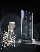 The TLM 67 studio microphone receives the 2009 MIPA award.